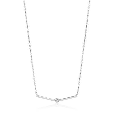ANIA HAIE SHIMMER SINGLE STUD NECKLACE 925S