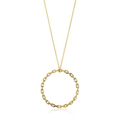 ANIA HAIE CHAIN CIRCLE PENDANT NECKLACE 925S