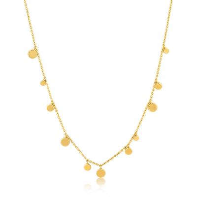 ANIA HAIE GEOMETRY MIXED DISCS NECKLACE 925S