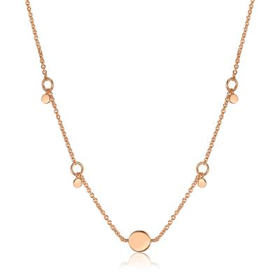 ANIA HAIE GEOMETRY DROP DISCS NECKLACE 925S
