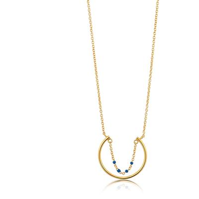 ANIA HAIE DOTTED CIRCLE NECKLACE 925S