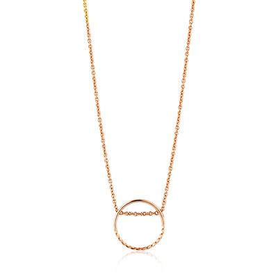 ANIA HAIE TWIST CHAIN CIRCLE NECKLACE 925S