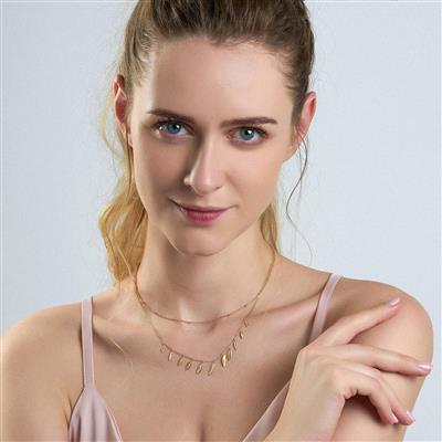 ANIA HAIE LEAF DOUBLE NECKLACE 925S