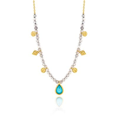 ANIA HAIE TURQUOISE LABRADORITE NECKLACE 925S