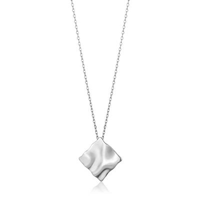 ANIA HAIE CRUSH SQUARE NECKLACE 925S