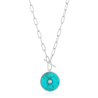 ANIA HAIE TURQUOISE T-BAR NECKLACE 925S