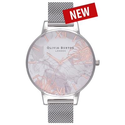 OLIVIA BURTON ABSTRACT FLORALS 38MM