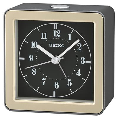 SEIKO ALARM CLOCK 8X8X4CM SWEEP BEEP LED FLASHING