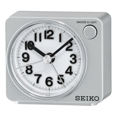 SEIKO ALARM CLOCK 6X7X5CM SWEEP SNOOZE LED LIGHT
