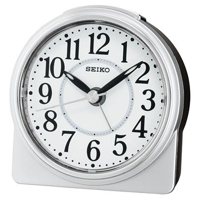 SEIKO ALARM CLOCK 9X9X4CM SWEEP SNOOZE LIGHT LUMI'