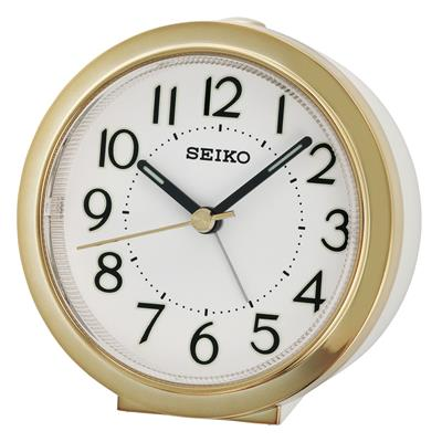 SEIKO ALARM CLOCK 9X9X4CM SWEEP SNOOZE LIGHT