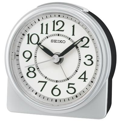 SEIKO ALARM CLOCK 9X9X4CM BEEP SNOOZE SWEEP LIGHT