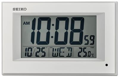 SEIKO ALARM CLOCK 16X26X5CM LIGHT CALENDAR THERMOM