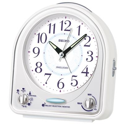 SEIKO ALARM  CLOCK14X13X7CM SWEEP SNOOZE LIGHT MEL