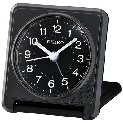 SEIKO TRAVEL ALARM  CLOCK 8X8X2CM SNOOZE LIGHT'