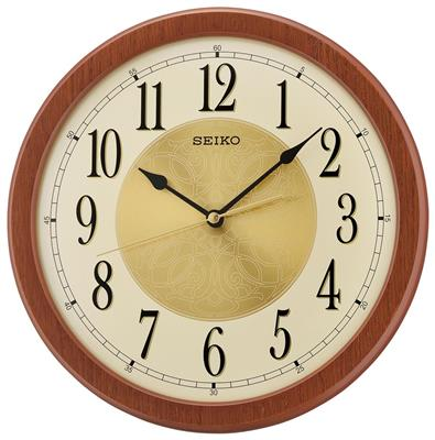 SEIKO WALL CLOCK 30X4CM SWEEP WOODEN CASE