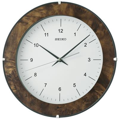 SEIKO WALL CLOCK Ø30X5CM SWEEP WOODEN CASE