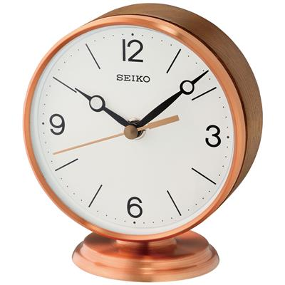 SEIKO TABLE CLOCK 13X12X9CM ALUMINIUM