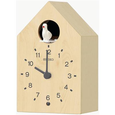SEIKO WALL CLOCK 19X12X9CM ON THE HOUR PLAYS BIRD