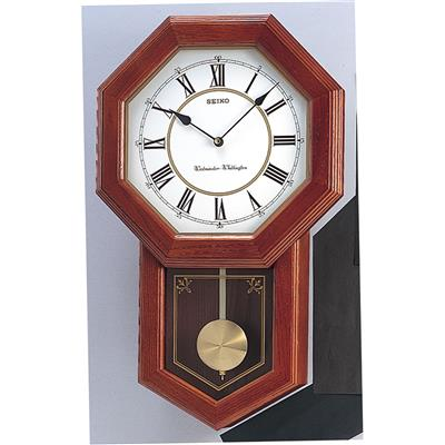 SEIKO WALL CLOCK OAK WEST/WHITT54X33X10CM