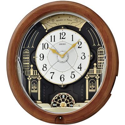 Seiko Wall Clock 48x44x12cm 12 Melodies Wood Swaro Optura As