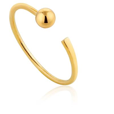 ANIA HAIE ORBIT FLAT ADJUSTABLE RING 925S