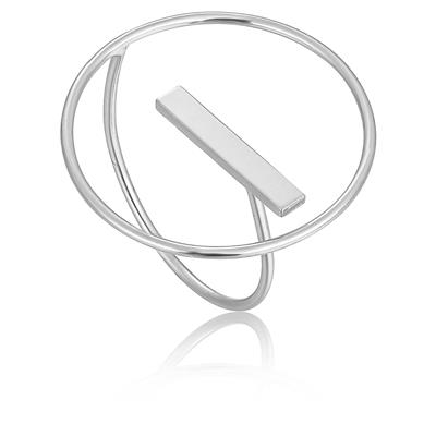 ANIA HAIE MODERN CIRCLE ADJUSTABLE RING 925S