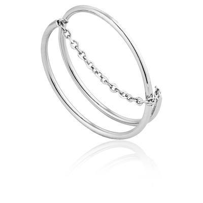 ANIA HAIE MODERN TWIST CHAIN RING 925S