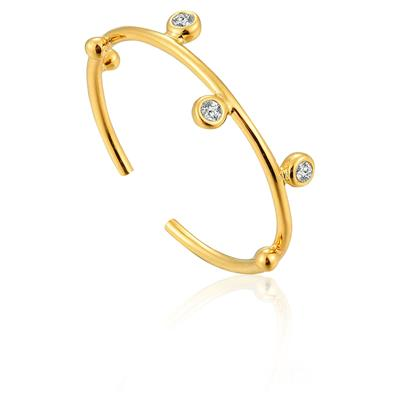 ANIA HAIE SHIMMER STUD ADJUSTABLE RING 925S