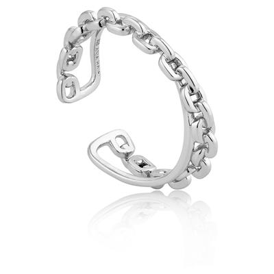 ANIA HAIE CHAIN DOUBLE CROSSOVER RING 925S