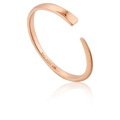 ANIA HAIE GEOMETRY FLAT ADJUSTABLE RING 925S