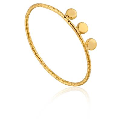 ANIA HAIE TEXTURE TRIPLE DISC RING 925S