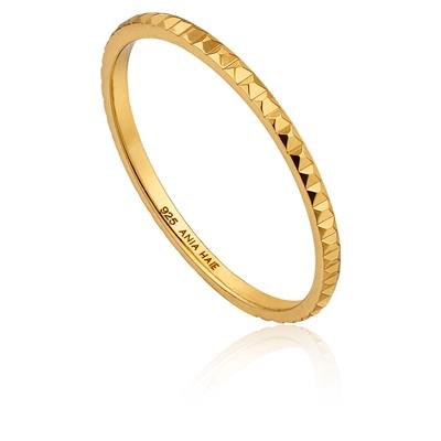ANIA HAIE TEXTURE BAND RING 925S