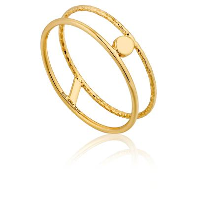 ANIA HAIE TEXTURE DOUBLE BAND RING 925S