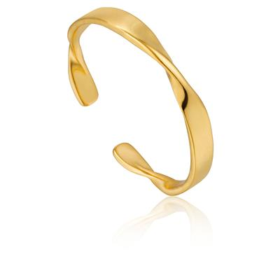 ANIA HAIE HELIX THIN ADJUSTABLE RING 925S