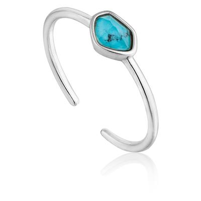 ANIA HAIE TURQUOISE ADJUSTABLE RING 925S
