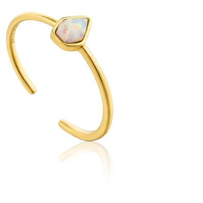 ANIA HAIE OPAL COLOUR ADJUSTABLE RING 925S