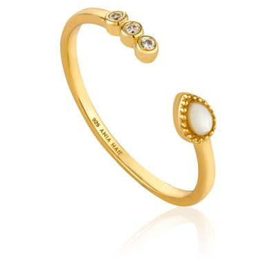 ANIA HAIE DREAM ADJUSTABLE RING 925S