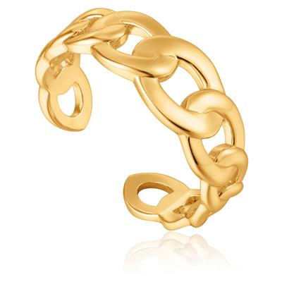 ANIA HAIE CURB CHAIN ADJUSTABLE RING 925S