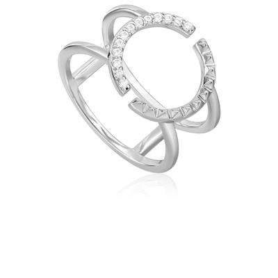 ANIA HAIE SPIKE DOUBLE RING 925S