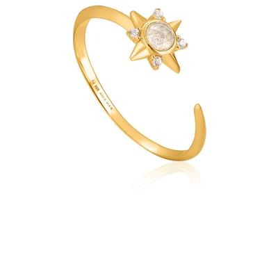 ANIA HAIE MIDNIGHT STAR ADJUSTABLE RING 925S
