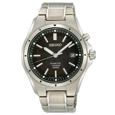 SEIKO MENS KINETIC TITAN 40MM 100M XL