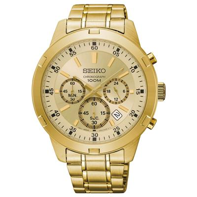SEIKO MENS 44MM 100M CHRONOGRAPH