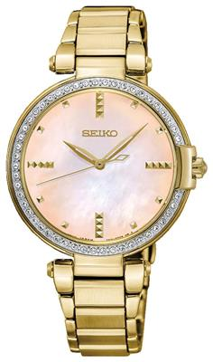 SEIKO LADIES 32MM 49 SWAROVSKI CRYSTALS MOTHER OF