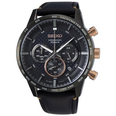 SEIKO MENS 45MM 100M CHRONOGRAPH