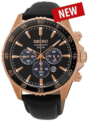 SEIKO MENS SOLAR 43MM 100M CHRONOGRAPH