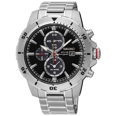 SEIKO MENS SOLAR 44MM 100M CHRONOGRAPH/TAC/ XL